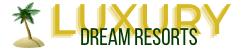 luxury dream resorts logo with palm tree